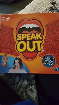 Hasbro Speak out Party Board Game played once with brand new mouth pieces