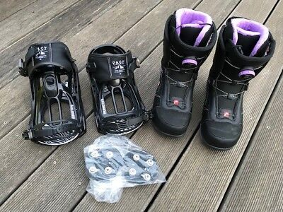 Head GALORE BOA BLACK Snowboardschuhe + passende Salomon Bindung