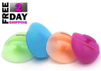 4pcs Super Soft Silicone Face Cleanser & Massager Brush Manual Facial Cleansing