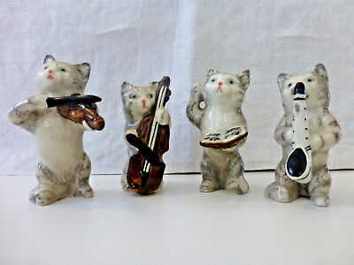 Beswick Cat Band Orchestra (All Four)