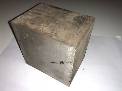 "Stainless Steel Square Bar Block Stock 4"" x 4"" x 2.9"""