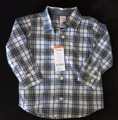 Gymboree Boys Long Sleeve Button Up Plaid Dress Shirt  Size 18-24 Months Nwt