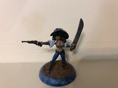 RPG Table Top Gaming Miniature Female Pirate Painted