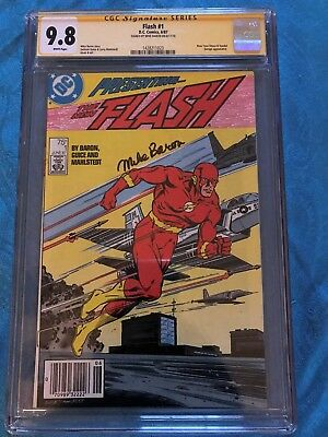 Flash #1 1987 - DC -CGC SS 9.8 NM/MT - Signed by Mike Baron