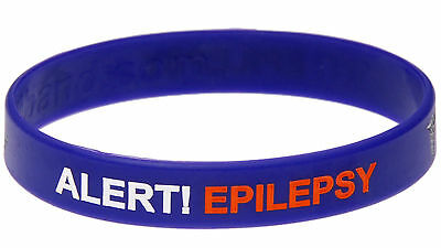 Epilepsy Alert Purple Silicone Wristband Medical Alert ID by Mediband
