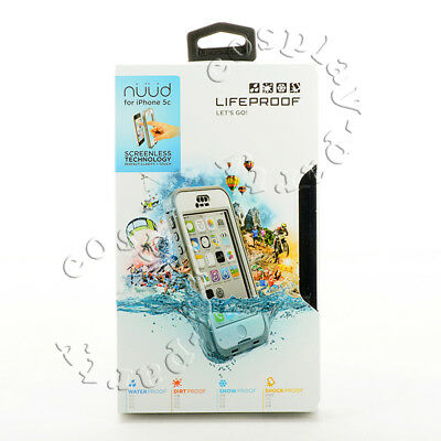 LifeProof Nuud Waterproof Shockproof iPhone 5c Only Hard Case White Gray Clear