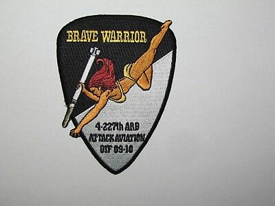 Military US Army Aviation 4-227 AH-64D Apache Longbow Helicopter Air Patch Pinup