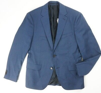 f31545625410 New Theory Victory Searle Blue Wool Suit Separate Wellar Blazer Jacket 38S