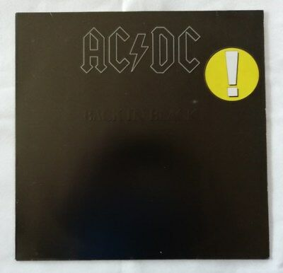 Ac/dc -Back In Black -  Lp -  Atlantic  Atl 50735  Top
