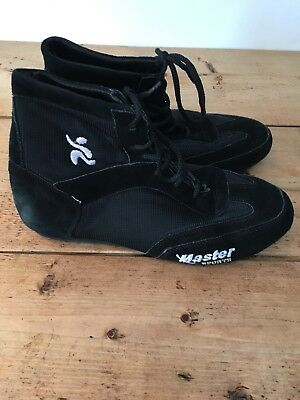 Master Sports Boxing Shoes Suede Boot Light Weight Mesh Unisex  Size 11 Adult