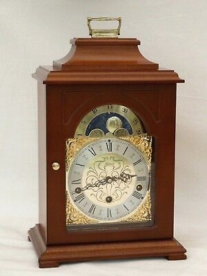 Hermle Triple 3Tune Westminster Whittington Chime Moonphase Bracket Mantle Clock