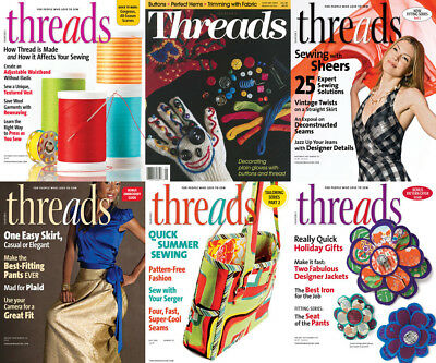 Threads Magazine's Sewing Archives - 178 PDF's Issues DVD + Extras- Crochet Knit