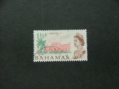 Bahamas QEII 1965 1½d rose-red, green & brown SG249 FU