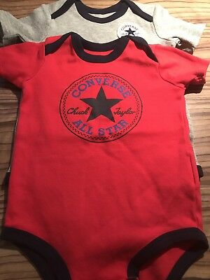 Baby Boy 2 Pack Converse Short Sleeve Vests New Without Tags Age 9-12 Months