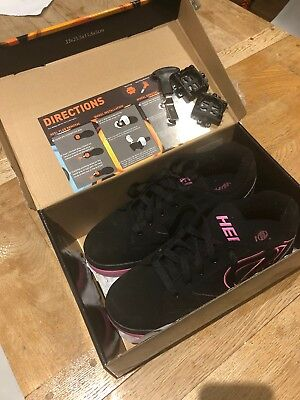 Heelys, size 8 ( adult) black/pink, excellent condition