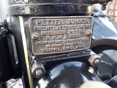 Petter m stationary engine tank cooled