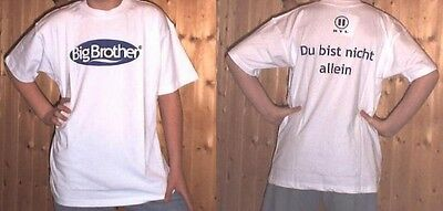 Big Brother T-Shirt, weiß, Gr. S, OVP