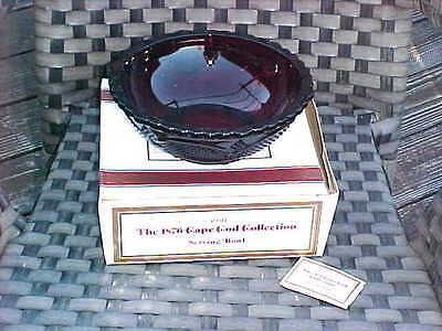 """New in Box AVON THE 1876 CAPE COD COLLECTION RUBY 8 3/4"""" SERVING BOWL"""