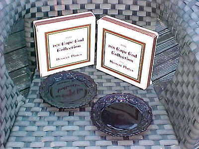 New in Box AVON THE 1876 CAPE COD COLLECTION RUBY.. FOUR DESSERT PLATES