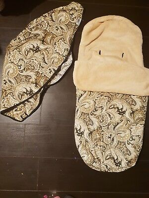 Bugaboo Camelon 1 2 3 floral Rare Hood & footmuff cosy toes bundle set covers