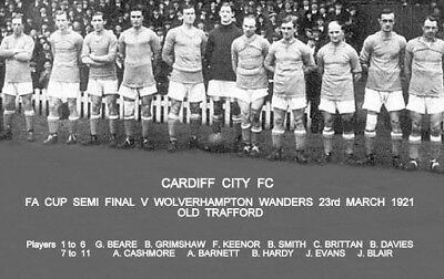 Cardiff City FC 1921 Cup Team Photo