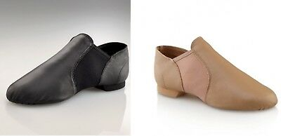 NEW Jazz Shoes Capezio E Series Black or Caramel Tan Slip On LOTS OF SIZES