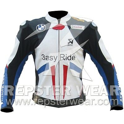 BMW Easy Ride Motorcycle Racing leather Jacket