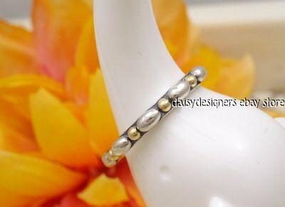 8e6e6d674 SILVER ROPE AUTHENTIC PANDORA Sterling Silver/14K GOLD Wrap RING Sz ...