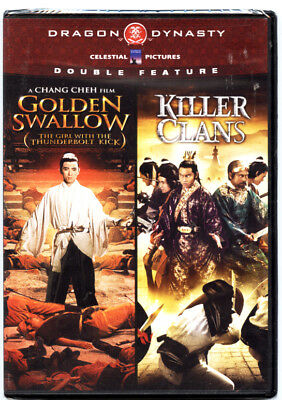 GOLDEN SWALLOW &  KILLER CLANS DVD (Dragon Dynasty Double Feature) BRAND NEW
