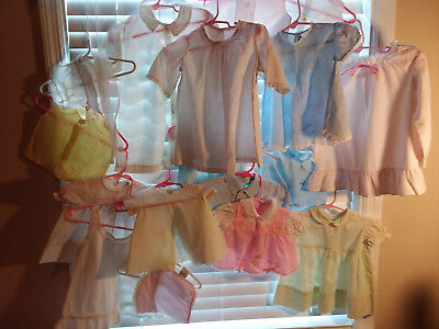 Vintage Lot Infant Baby Clothes incl Smocked Embroidered Handmade Sheer Perfect!