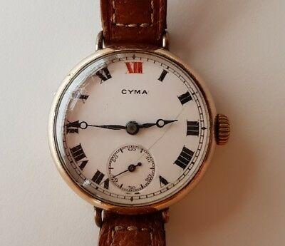 Vintage old woman watch Cyma, working