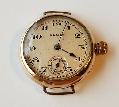 Vintage old woman watch Elgin gold filled