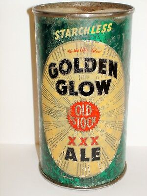 "GOLDEN GLOW ALE ""STARCHLESS""   FLAT TOP Beer Can A329"
