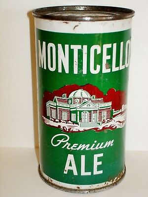 MONTICELLO ALE  FLAT TOP Beer Can A335