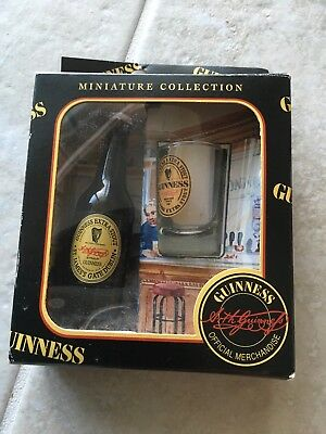 Guinness Miniature Collection Set of Guinness Extra Stout Bottle And Shot Glass