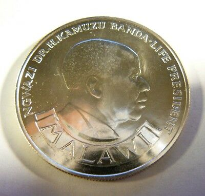 MALAWI 10 Kwacha 1974 Silver 10th Anniversary of Independence