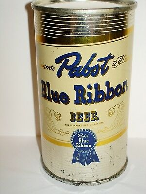 "PABST BLUE RIBBON BEER ""IT'S BLENDED/IT'S SPLENDID"" IRTP Flat Top  Beer Can A308"