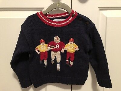 Hartstrings Baby Football Sweater Size 12M