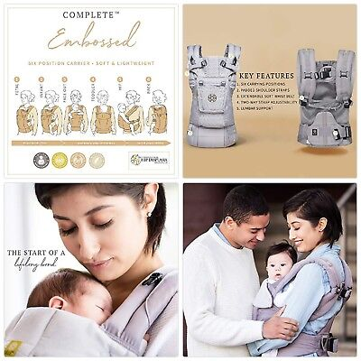 LÍLLÉbaby The COMPLETE Embossed Luxe SIX-Position 360° Ergonomic Baby Child