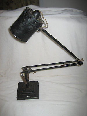 Vintage Herbert Terry Anglepoise Stepped Base Table / Desk Lamp Requiring TLC.