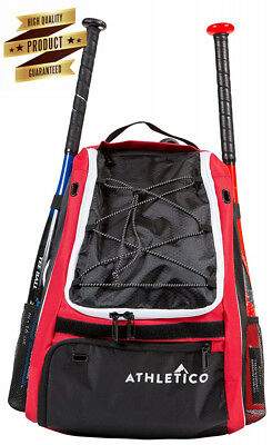 Athletico Baseball Bat Bag - Backpack for Baseball, T-Ball & Softball...