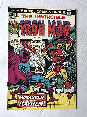 THE INVINCIBLE IRON MAN #61 August 1973 Unread The Avengers
