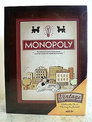 New MONOPOLY 2016 Vintage Library Bookshelf Game Collection Wooden Box SEALED