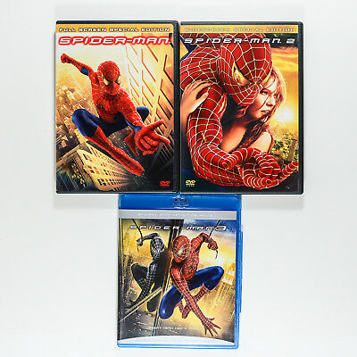 Spider-Man: 1,2 And 3 DVD's Widescreen #3 is BluRay