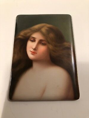 Antique Painting On Porcelain Signed Wagner