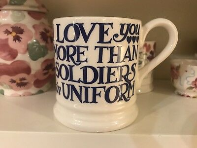 EMMA BRIDGEWATER . Love You More Than Soldiers New & 1st