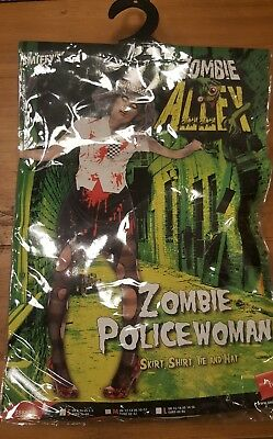 Smiffys ladies zombie police woman halloween costume S 8-10