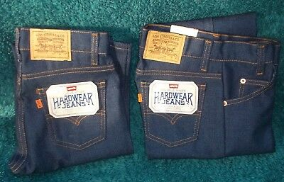 Two pair of Vintage Levi's orange tag New with tags FREE SHIPPING