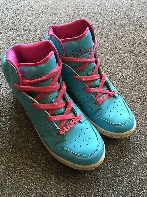 blue and pink high top pastry trainers 6
