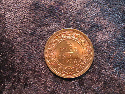 1 old world foreign coin INDIA 1/2 pice 1914 KM510 King George V